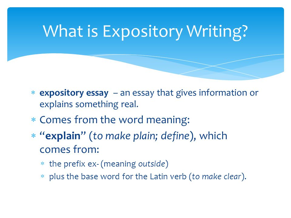 Expository Essays Definition << Research Paper Academic Service