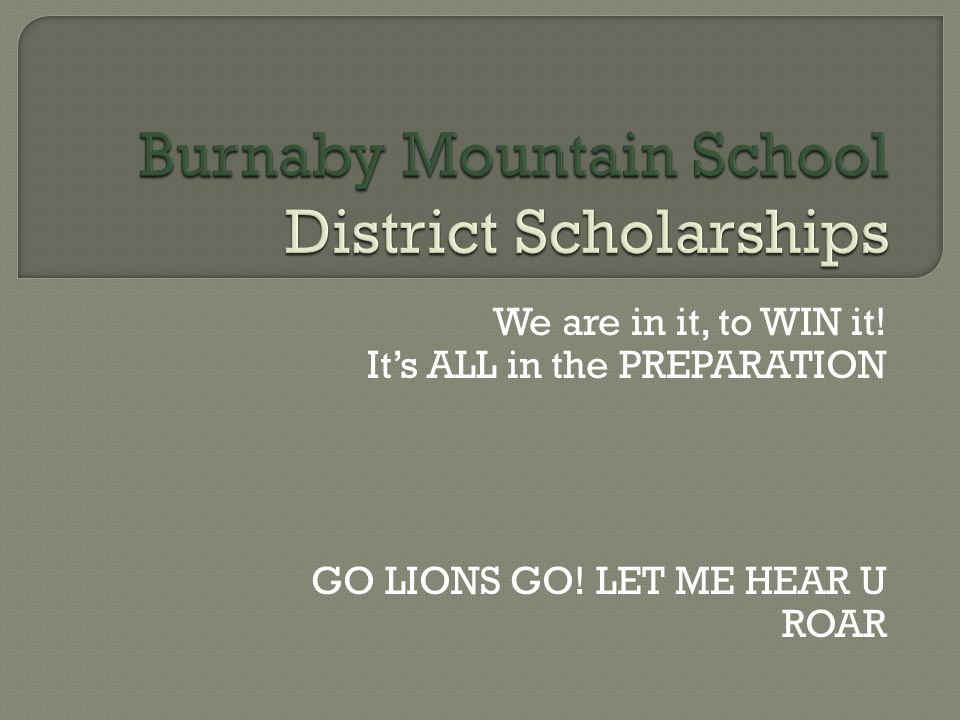  What District Scholarships Are. Why District Scholarships Are Important.