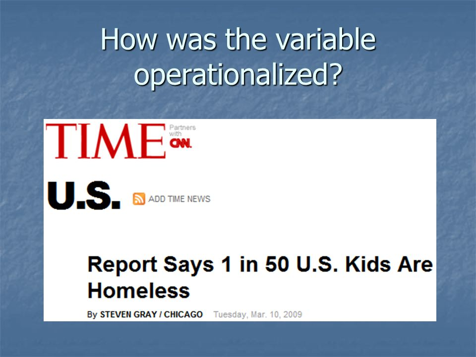 How was the variable operationalized?