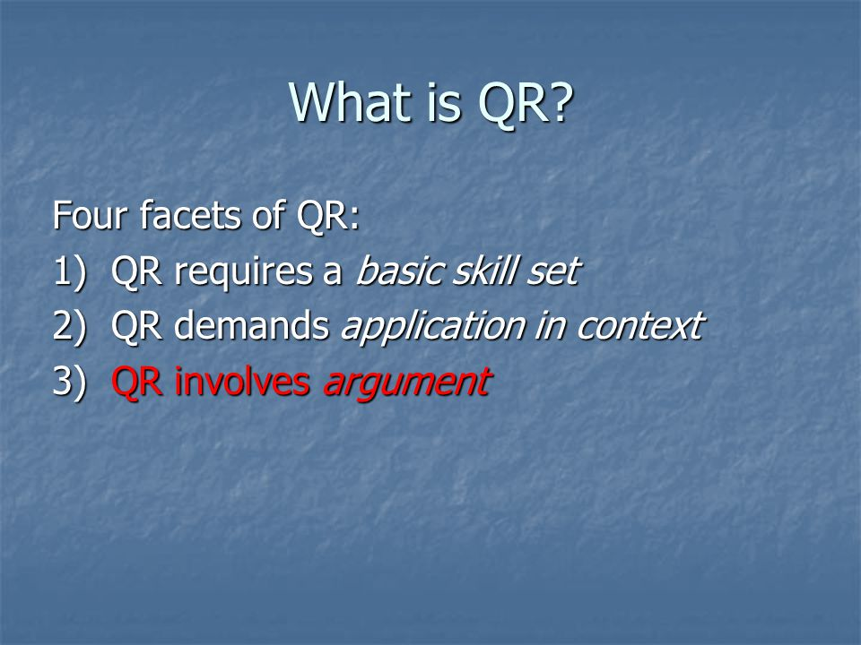 What is QR.