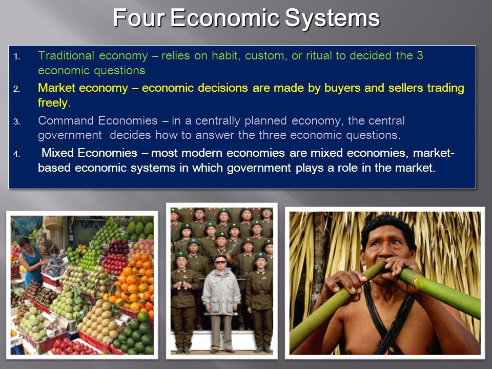 1.What goods and services should be produced. 2. How should these goods and services be produced.