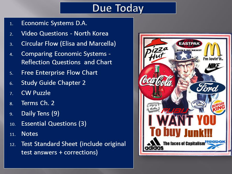 1. Name 2. Date (1-30) 3. Class Period 4. Chapter 2 Test 5. ID: A, B, C Junk!!!