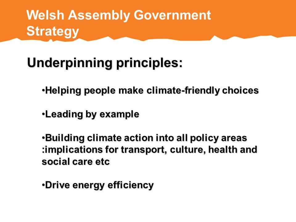 Underpinning principles: Helping people make climate-friendly choicesHelping people make climate-friendly choices Leading by exampleLeading by example