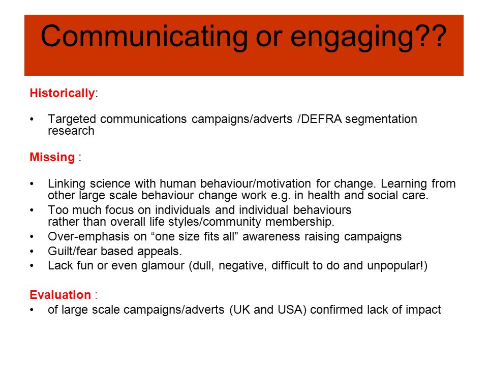 Communicating or engaging .