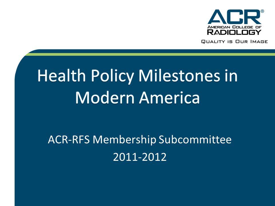 ACR-RFS Membership Subcommittee 2011-2012
