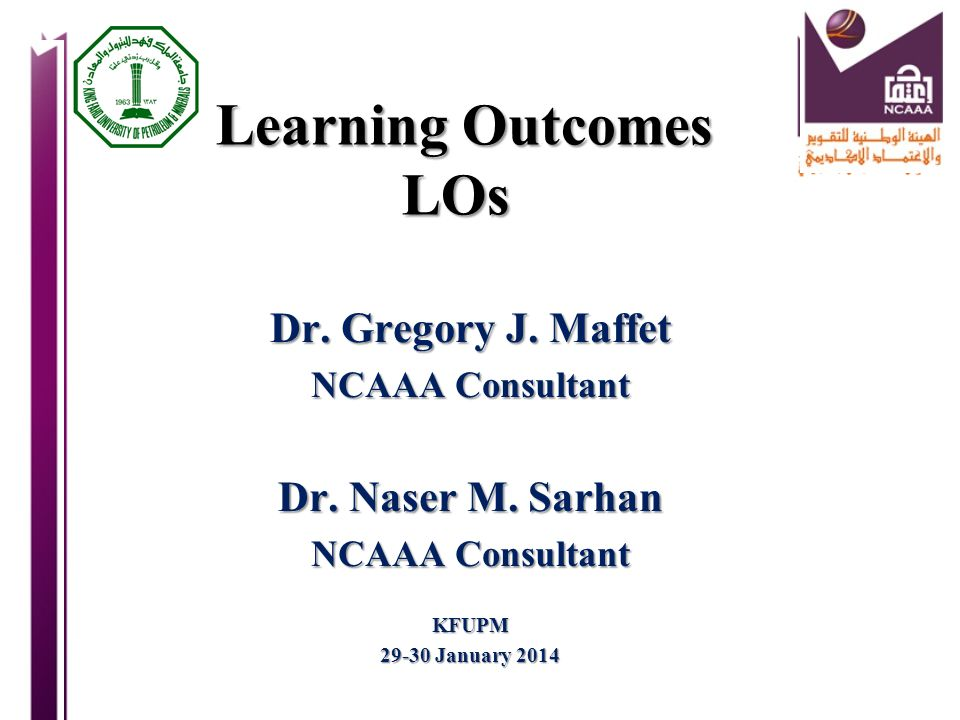 Quality Assurance of Assessment of Learning Outcomes ….