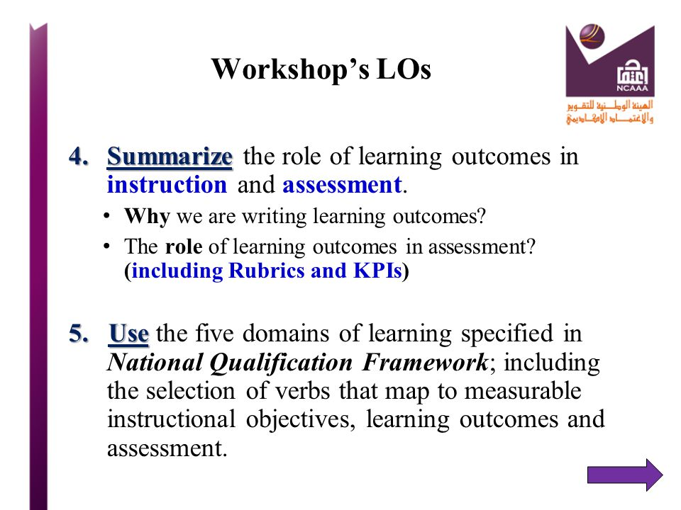 Teaching Methods and LOs 1.Focus is on learning outcomes in debates on teaching strategies or methods in higher education Teaching methodsnot means to an end 2. Teaching methods are not an end in themselves, they are a means to an end  student performance vehicle(s) 3.They are the vehicle(s) teachers use to lead students towards particular learning outcomes.