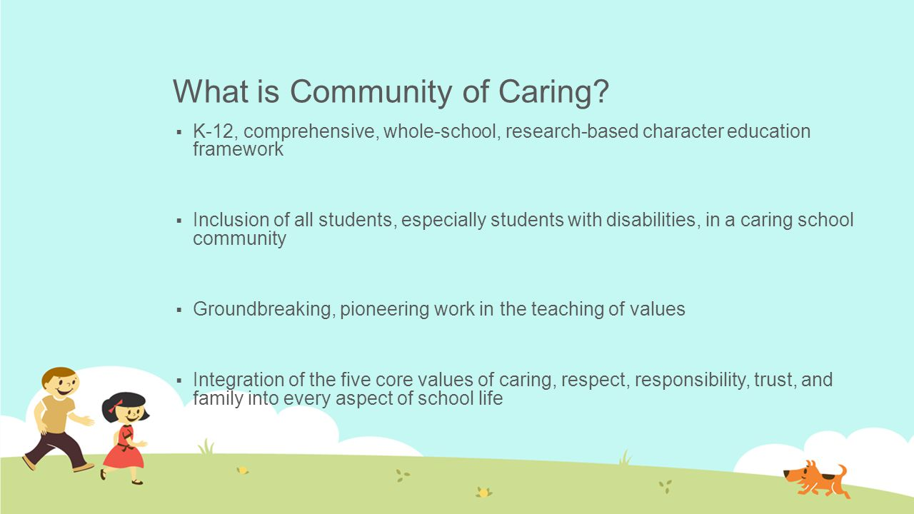 What is Community of Caring.