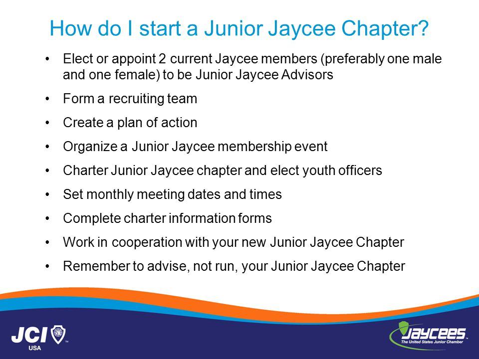How do I start a Junior Jaycee Chapter.