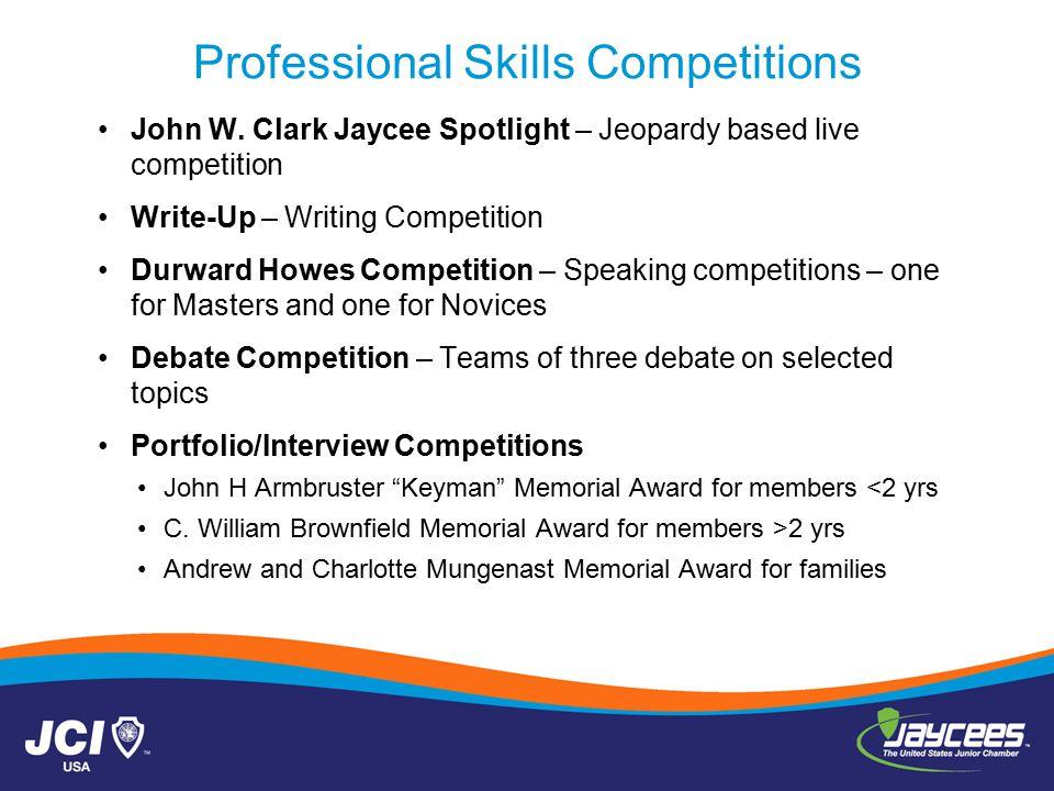 Professional Skills Competitions John W.