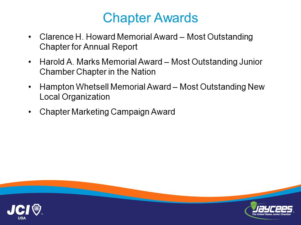 Chapter Awards Clarence H.