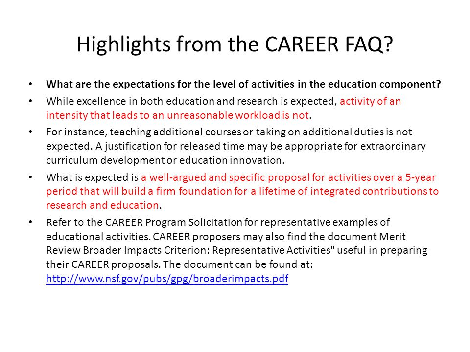 What are the expectations for the level of activities in the education component.