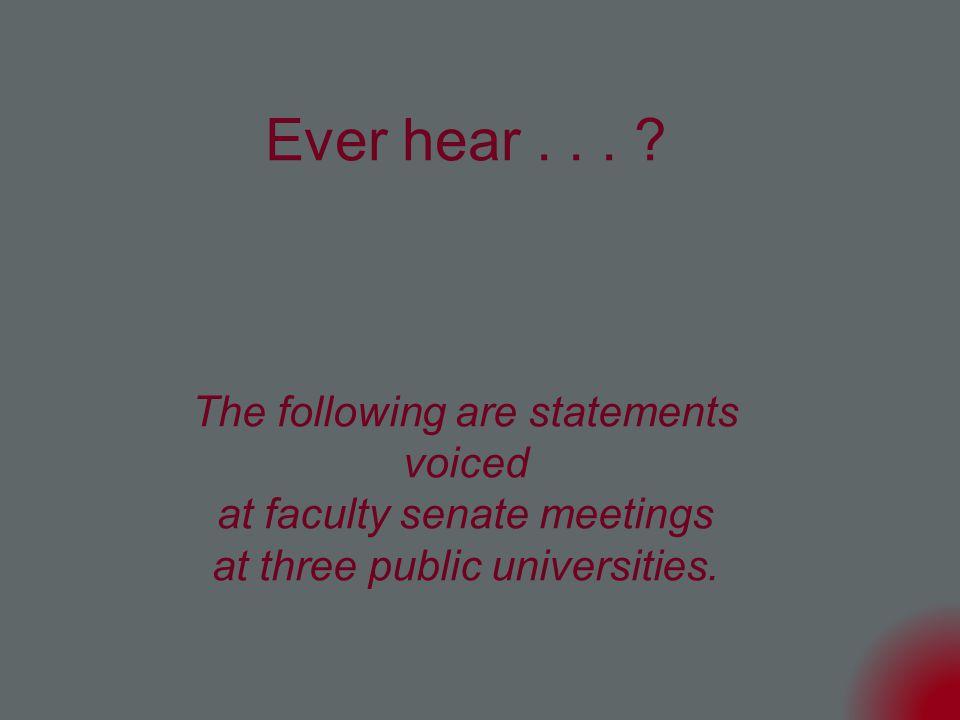 Ever hear...