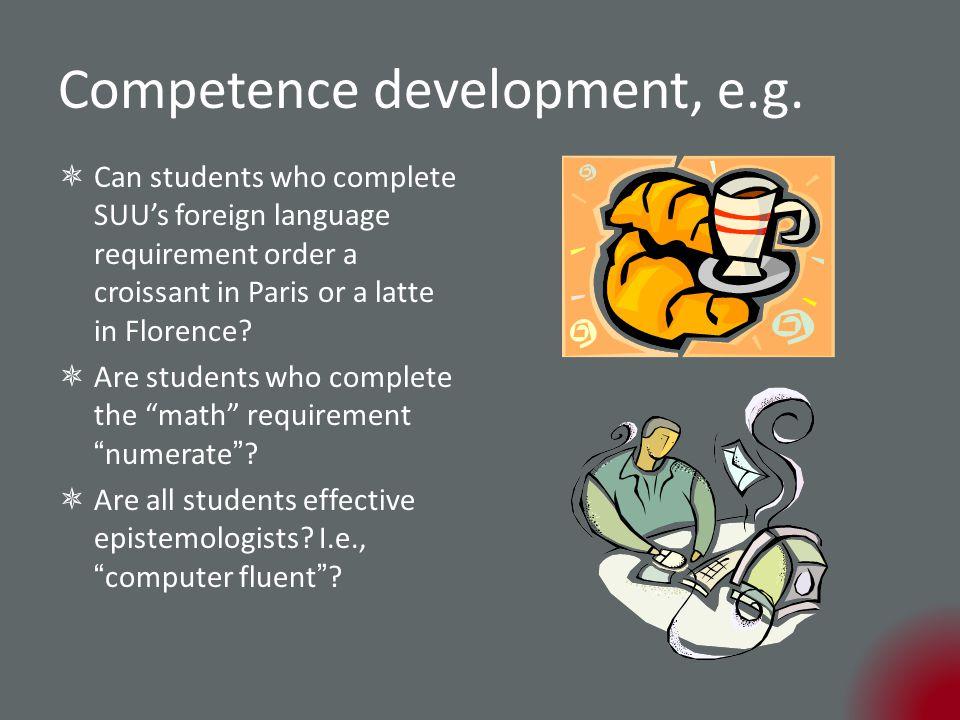 Competence development, e.g.