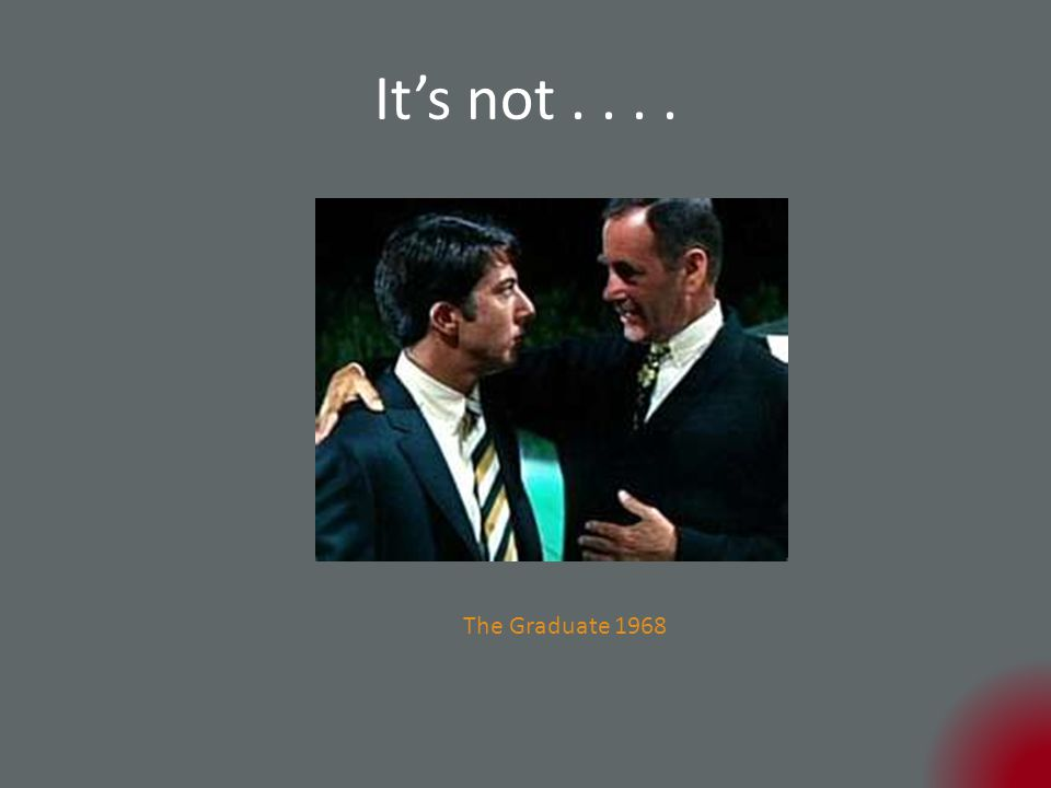 It's not.... The Graduate 1968