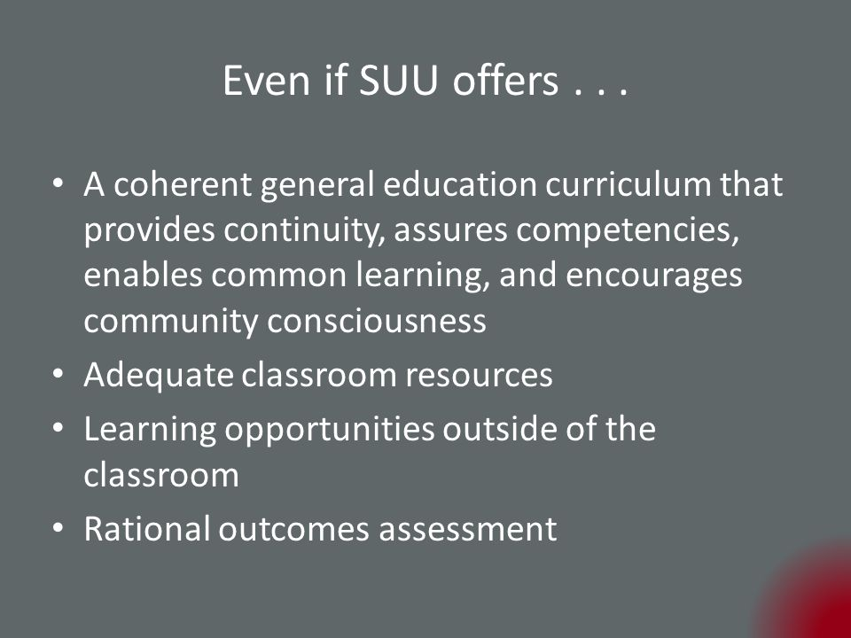 Even if SUU offers...