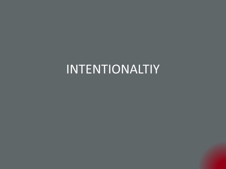 INTENTIONALTIY