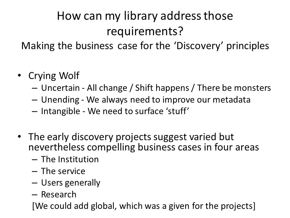 How can my library address those requirements.