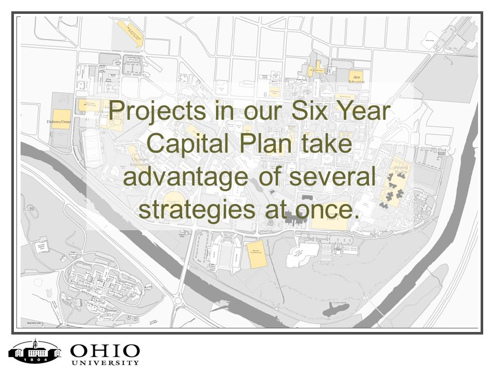 Projects in our Six Year Capital Plan take advantage of several strategies at once.