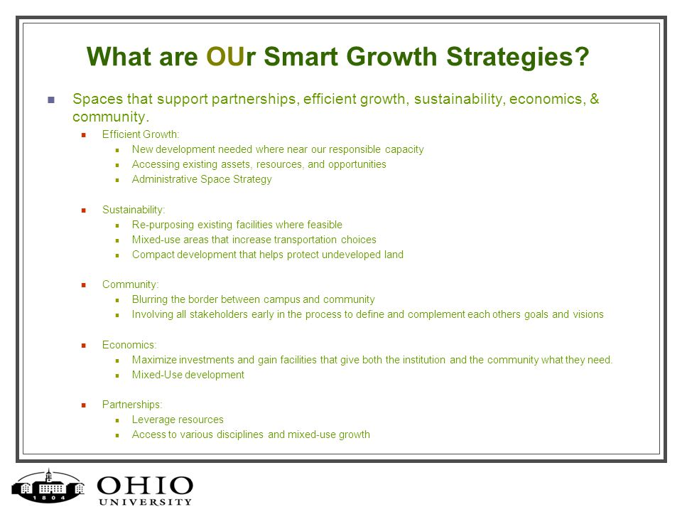 What are OUr Smart Growth Strategies.