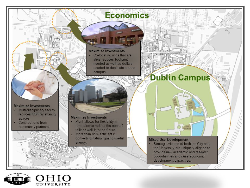 Economics Mixed-Use Development Strategic visions of both the City and the University are uniquely aligned to provide new academic and research opportunities and raise economic development capacities.