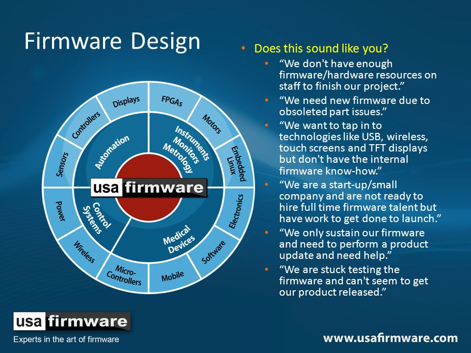 Firmware Design Does this sound like you.