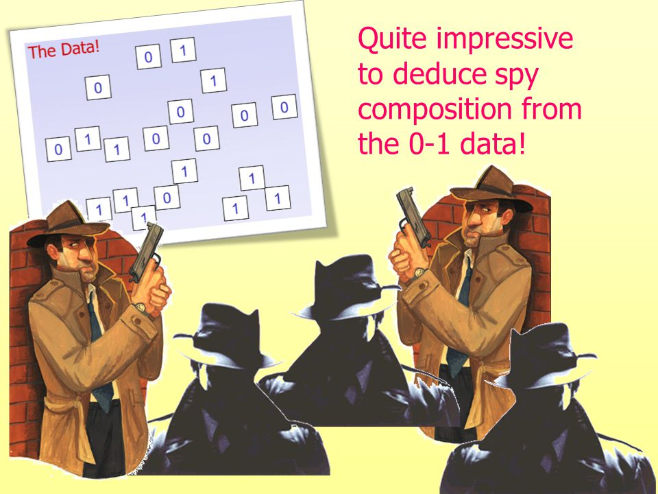 Quite impressive to deduce spy composition from the 0-1 data!