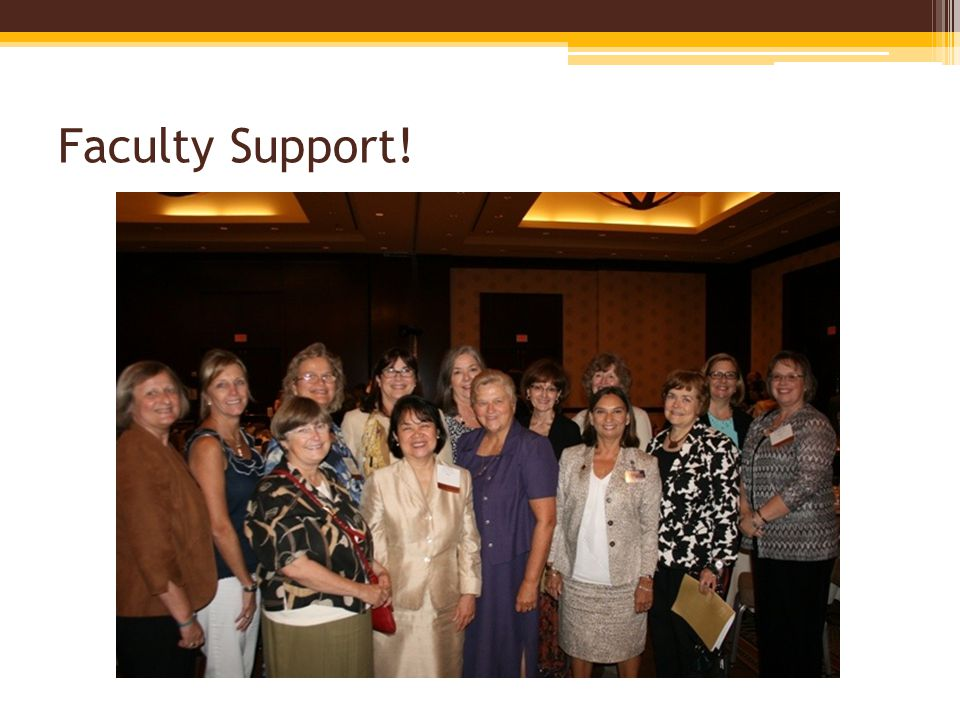 Faculty Support!