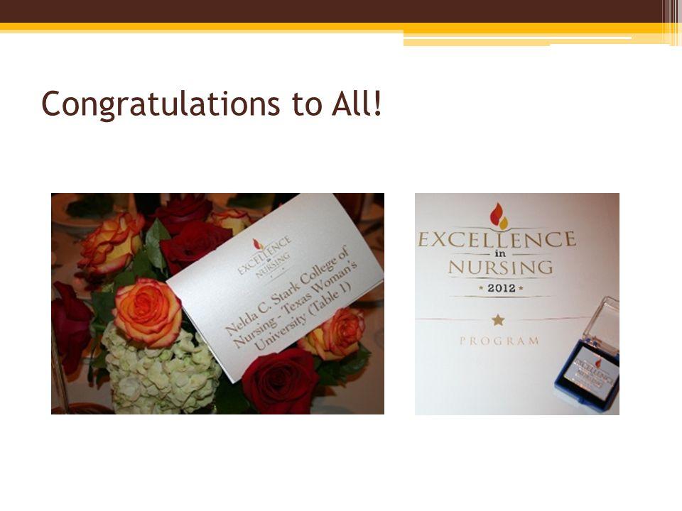 Congratulations to All!