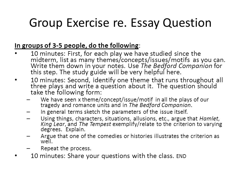 Group Exercise re.