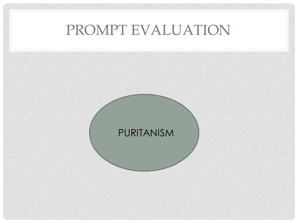 PROMPT EVALUATION PURITANISM