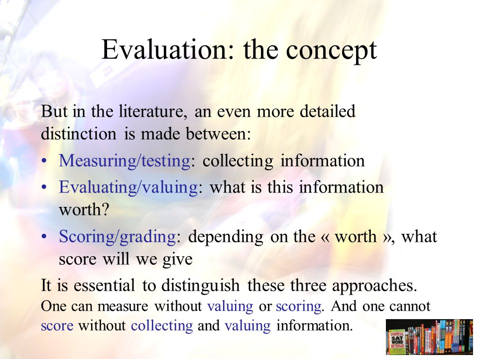 Dimension 5: Technique rubrics Rubrics: Define clear criteria: concrete element of a complex learning objective that is being measured, valued and scored Determine for each criterion a number of quality indicators: indicators exemplify the level at which a certain criterion is being met, answered, attained