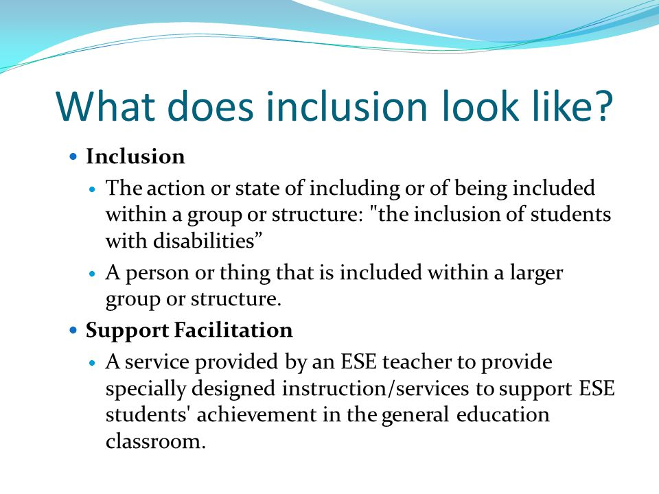 What does inclusion look like.