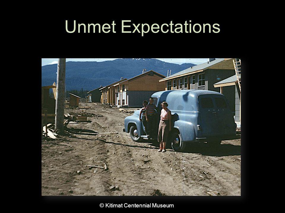 Unmet Expectations © Kitimat Centennial Museum