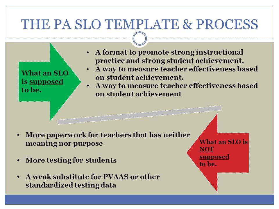 Every teacher designs an SLO.