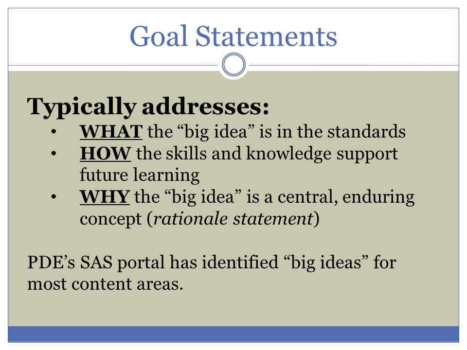 A well-crafted SLO will meet the following criteria: What is the expectation for student improvement related to school improvement goals.