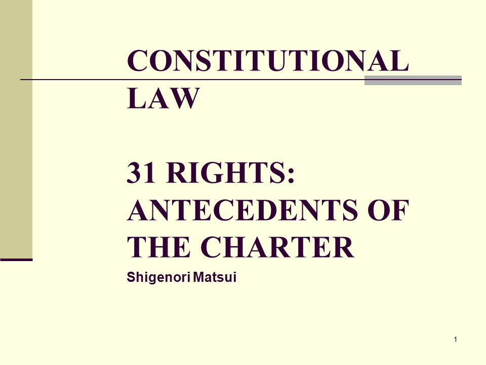 2 INTRODUCTION The Charter of Rights and Freedoms was enacted in 1982.