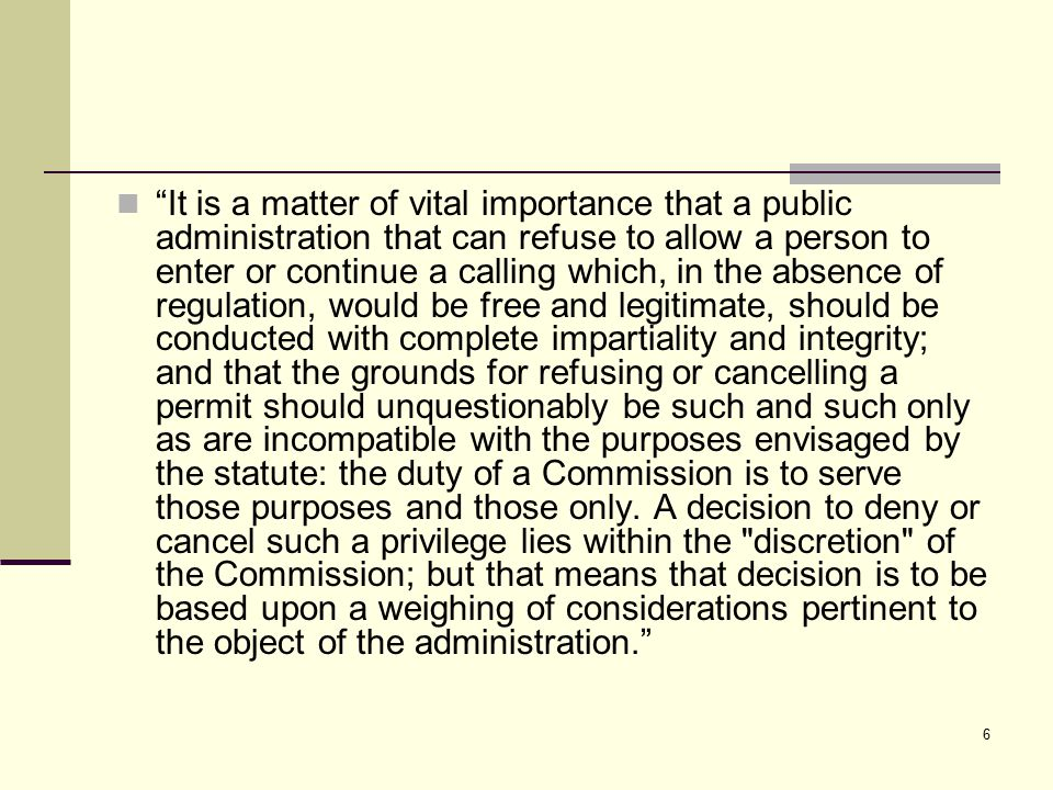 7 To deny or revoke a permit because a citizen exercises an unchallengeable right totally irrelevant to the sale of liquor in a restaurant is equally beyond the scope of the discretion conferred.