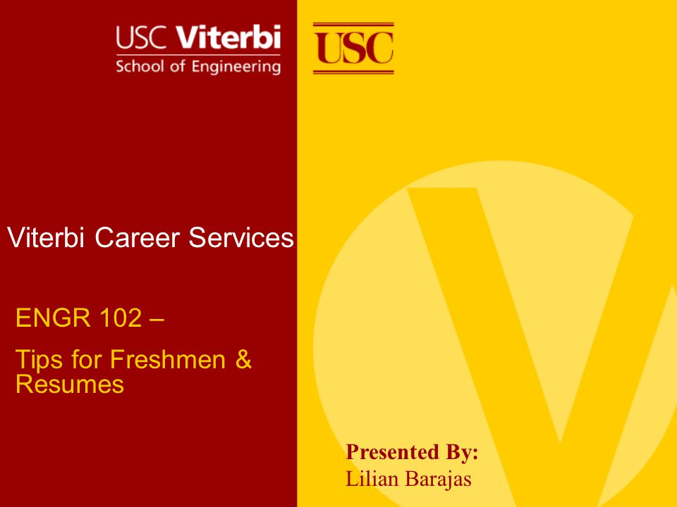 Workshop Overview Career Services Overview General Tips for Freshmen Fundamentals of Resume Writing Resume Checklist Finding an Internship