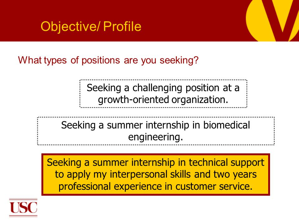 What types of positions are you seeking.