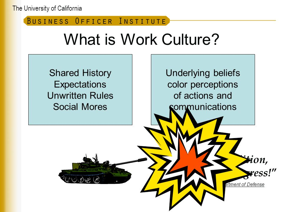 The University of California What is Work Culture.