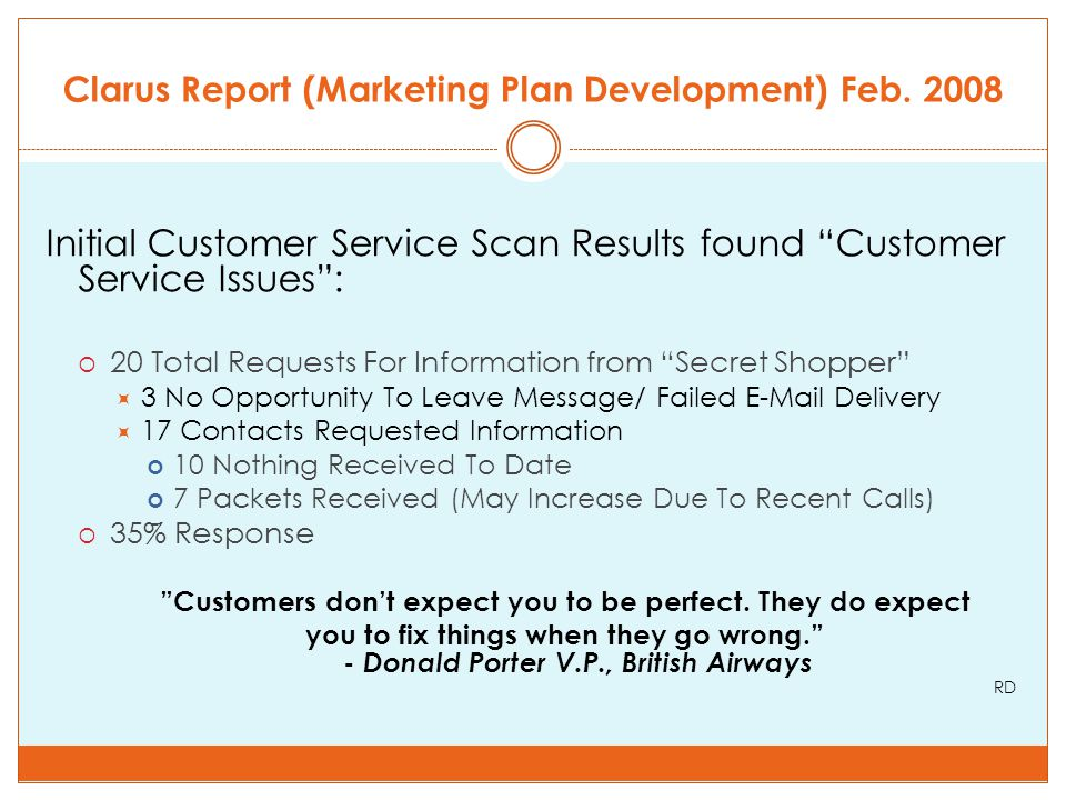 Clarus Report (Marketing Plan Development) Feb.