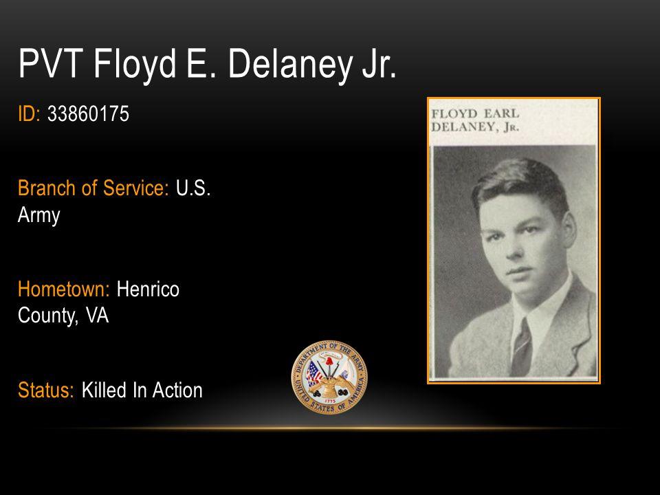 Frank Walker Decker BRANCH OF SERVICE: U.S.