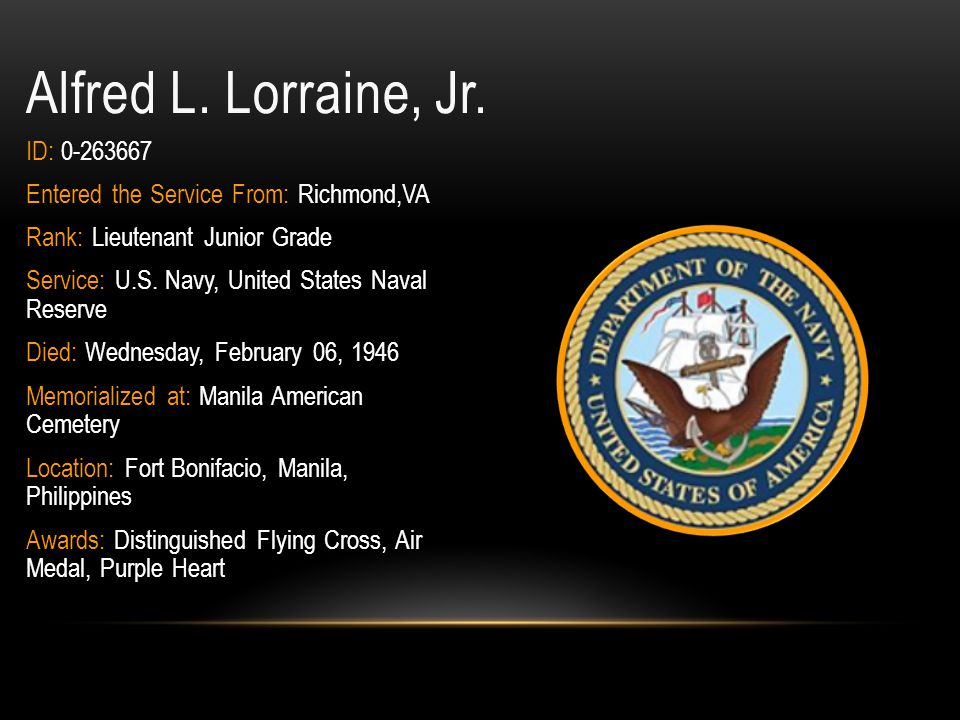 Lewis W.Layne, Jr. ID: 33641934 Entered the Service From: Richmond,VA Rank: Private Service: U.S.