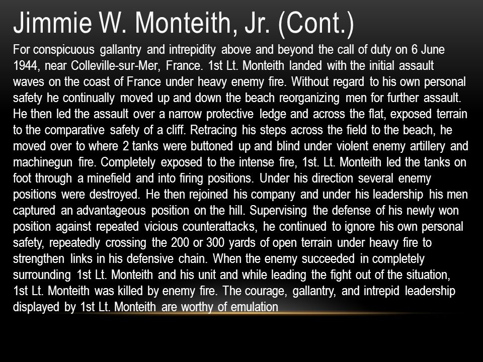 Jimmie W.Monteith, Jr.