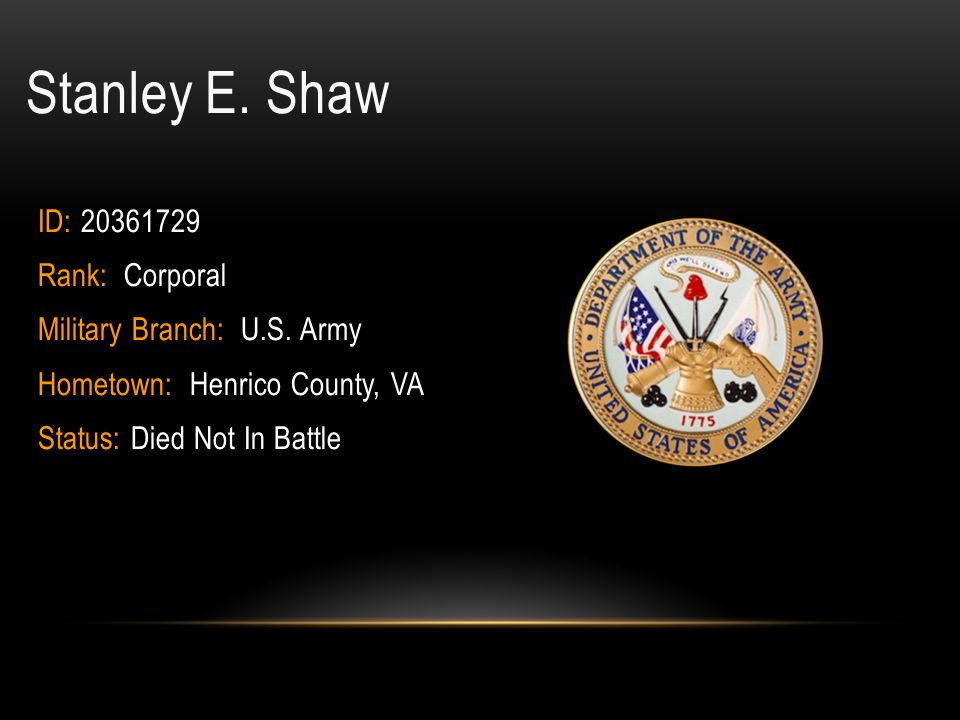Robert Charles Schmidt Rank: Ensign Hometown: Richmond City, VA Military Branch: Navy