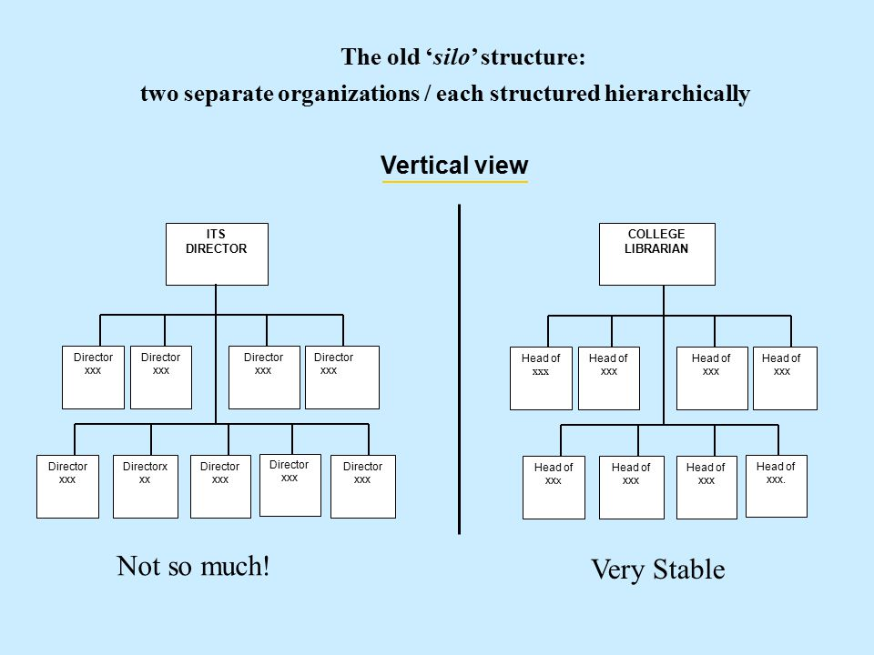 Hierarchy Matrix Self-directed fluid teams clusters work groups moving from Vertical Horizontal structure VerticalHorizontal *** Integrated, Fluid, Self-Directed Vertical and Horizontal *** Integrated, Fluid *** Compartmental