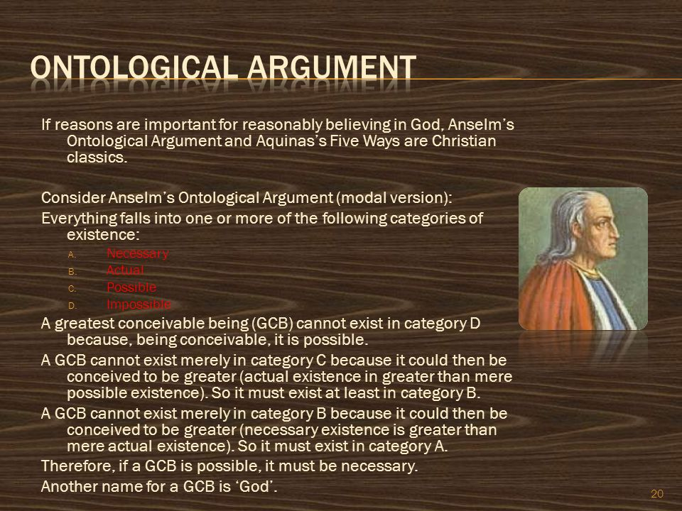 If reasons are important for reasonably believing in God, Anselm's Ontological Argument and Aquinas's Five Ways are Christian classics. Consider Ansel