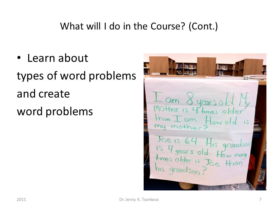 What will I do in the Course? (Cont.) Analyze student work 8Dr. Jenny K. Tsankova2011