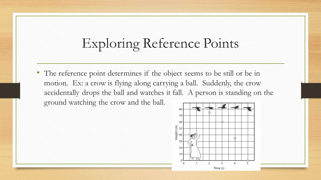 Exploring Reference Points The reference point determines if the object seems to be still or be in motion.
